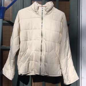 New Free People Quilted Dolman Jacket White XS